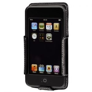 """Hama """"Delicate Shell"""" Leather Case for iPod touch/touch 2G black"""