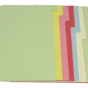5 star Ofc-tab4 Tabblad A4 2x6 Kleur Karton / Set 12 Stuks