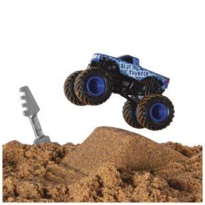 Monster Jam Monster Dirt Starter Set + Die-Cast Blue Thunder en Kinetic Sand