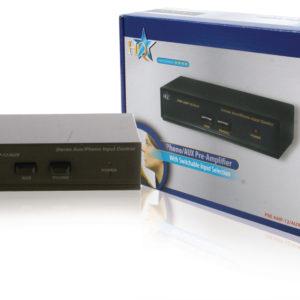 Hq Pre Amp-12/aux Stereo Voorversterker met Schakelbare Aux Ingang