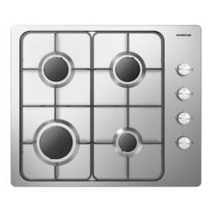 Inventum IKG6011RVS Inbouw Gaskookplaat Zwart/RVS