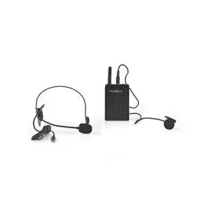 Nedis MPWL631BK Draadloze Microfoonset 16-kanaals Headset Met Bodypack Gebruikdsuur Batterij Tot 6 Uur