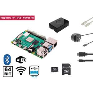 Raspberry Pi RP4KIT2GB 4 2 Gb Starter Kit + Noobs Software Tool