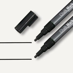 Sigel SI-GL177 Krijtmarker 1-2mm Afwasbaar 2 Stuks Zwart
