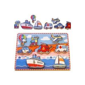 Simply for Kids 56436 Houten Voertuigen Puzzel