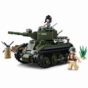 Sluban M38-B0686 Building Blocks Wwii Serie Bt-7 Allied Cavalry Tank