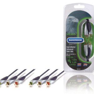 Bandridge SVL3301 Component Videokabel 3x Rca Male - 3x Rca Male 1.00 M Zwart