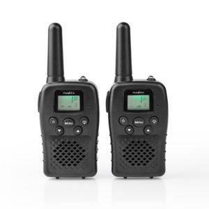 Nedis WLTK1000BK Walkie-talkie Bereik 10 Km 8 Kanalen Vox Oplaadbare Batterijen 2 Stuks Zwart