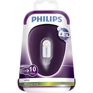 Philips G4 LED Steeklampje 1.2W=10W Wit 3000K 12VAC