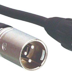 Tasker TAS-1MF128ZW12 Luidsprekerkabel Xlr 3-pins Male - Xlr 3-pins Female 12.0 M Zwart
