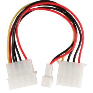 Valueline VLCP74030V015 Interne Stroom Adapterkabel Molex Mannelijk - Molex Vrouwelijk + 3-pins Fan Power 0