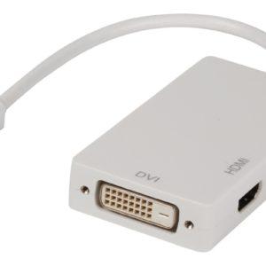 Valueline Vlmp37465w0.20 Mini Displayport Multi Adapter Mdp - Dvi + Vga + Hdmi 0
