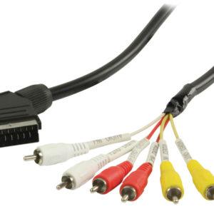 Valueline Vlvp31160b20 Scart - Rca Kabel Scart Mannelijk - 6x Rca Mannelijk  2